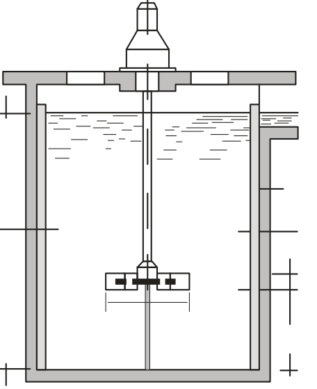 câmara de mistura mecanizada